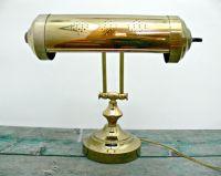 Vintage Brass Piano Lamp - Adjustable Bankers Desk Lamp