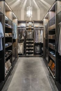 Amazing men's walk-in closet with safe | Men's Fashion ...