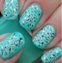 Sequin Nails | Nail Art | Pinterest