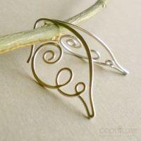 18 gauge wire spiral earrings $39.95 | Jewelry Ideas ...