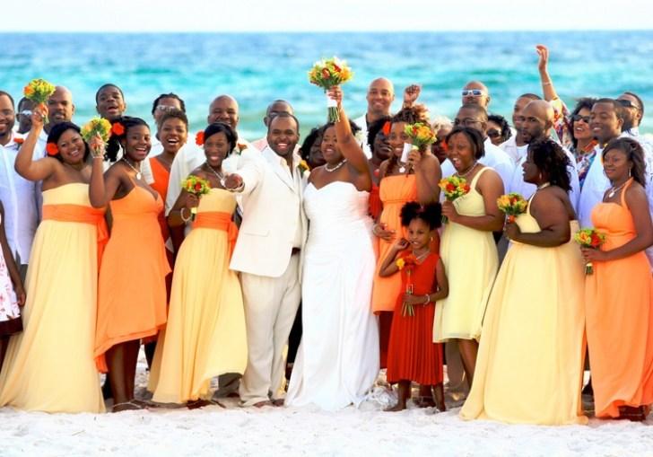 Fall Beach Wedding
