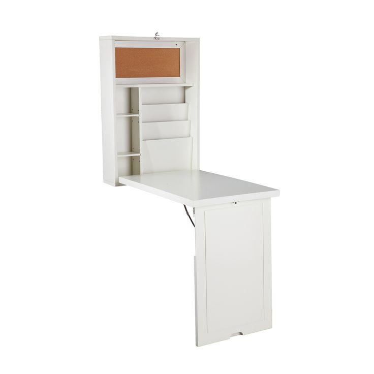 Upton Home Murphy Winter White Foldout Convertible Desk