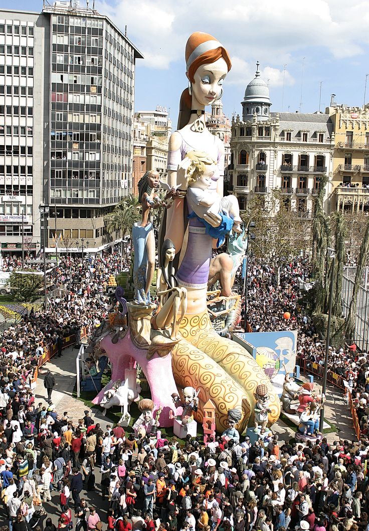 Las Fallas Festival - Made almost entirely of paper! They are built and burned!