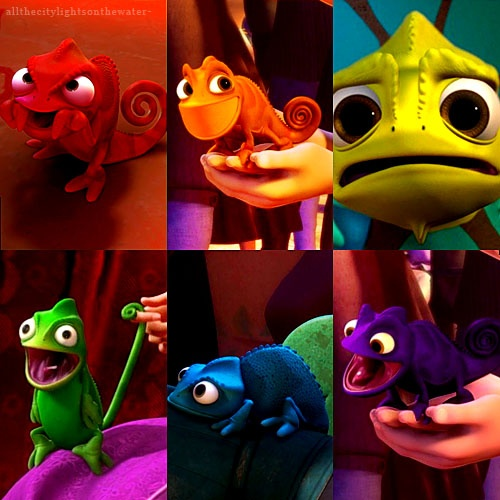 Pascal Rainbow. my favorite.  i have a thing for silent animal sidekicks in disney movies.  i even have a percy figurine