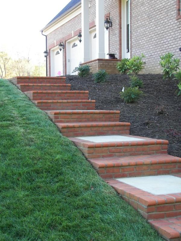 hardscape steps . hall homes