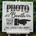 Booth black on white signs amp wall hangings weddings lov