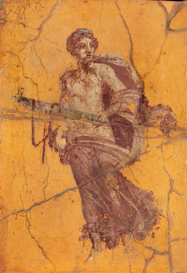 "Floating female figure (""Venus""), fresco, Fourth style to 50-79 n. Chr., Naples National Archaeological Museum."