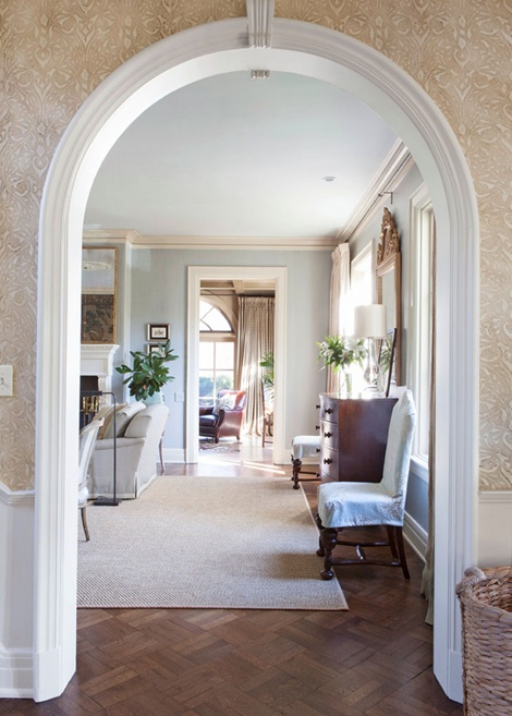 Arched doorway into living room  For the Home  Pinterest