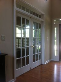 home office french doors near entry | For the Home | Pinterest