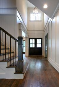 Black door, high ceiling, foyer | Woodwork | Pinterest