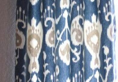 Light Blue Ikat Curtains