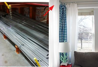 Diy Curtain Rods Conduit