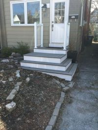 Ideas for front porch / steps. | front steps | Pinterest
