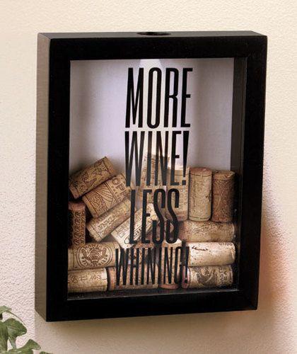 More Wine! Cork Holder Shadow Box