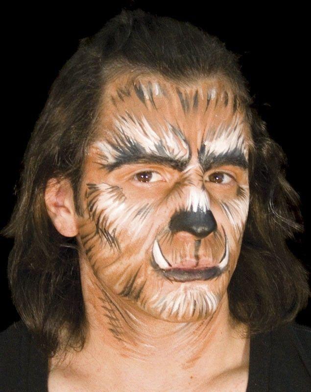werewolf face paint for