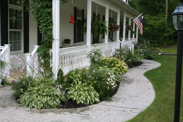 landscaping front porch gardening