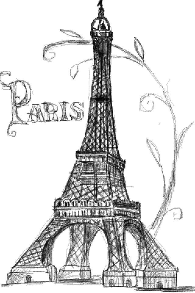 Pretty drawing of the Eiffel tower. U can tell I really