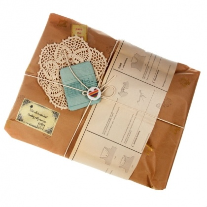 doily and brown paper