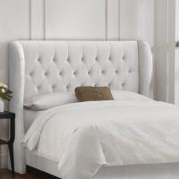 Tufted Wingback Upholstered Headboard | Bedroom ideas ...