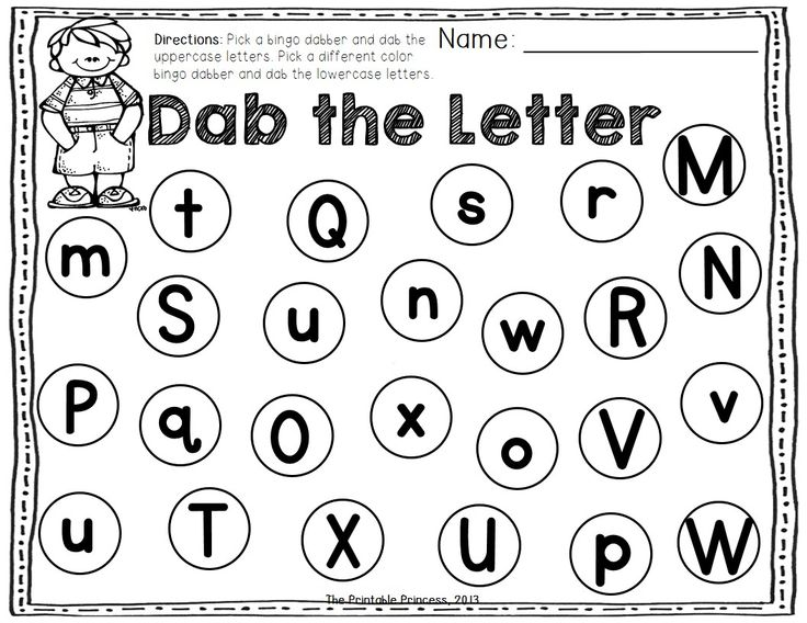 A Dab of Learning {Bingo Dabber Letter & Number