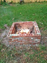 Our homemade fire pit | Outdoor living | Pinterest