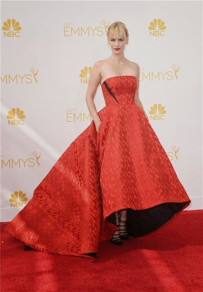 January Jones. Emmy 2014. Marcela en casa