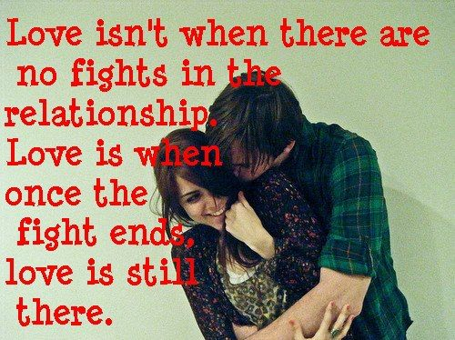 Fights Love Quotes