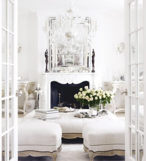 Classic Chic Home: Dreams of Living in an All White Room