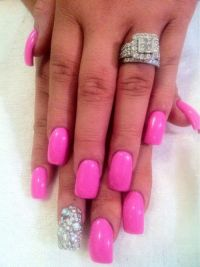 "Long ""Pink"" nails 