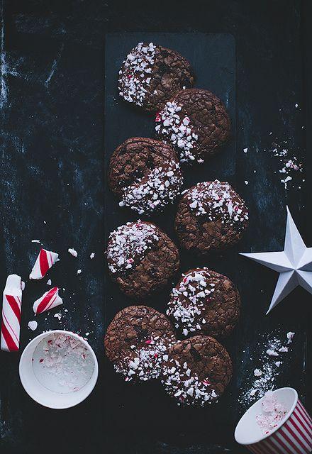 Candy Cane Chocolate Cookies | Call Me Cupcake