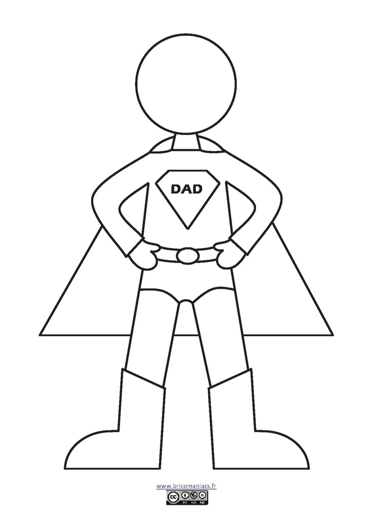 Superhero Dad Coloring Page Coloring Pages