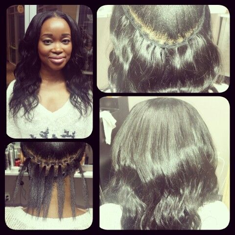 malaysian braidless sew in weave short hairstyle 2013
