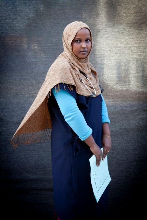 """I was born in war, I work in war, I live in war. I have never known peace..."" Ayan - Nurse, Mogadishu, Somalia Image © Jason Florio for Somalia Report & VQR"