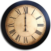 Large Wall Clock 24in Antique Style Big Round Clocks