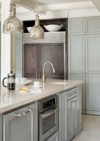 Gray blue kitchen cabinets | Kitchen | Pinterest