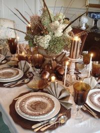 Thanksgiving Table Setting... | Autumn | Pinterest