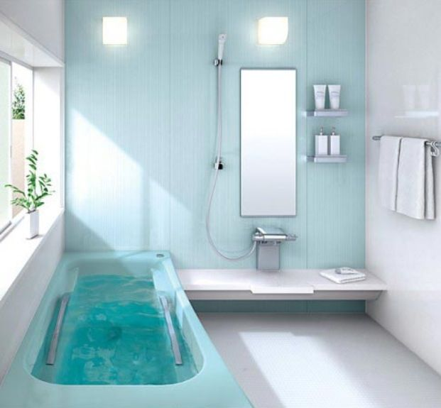 Luxurious light blue bathroom decor  Awesome  Pinterest
