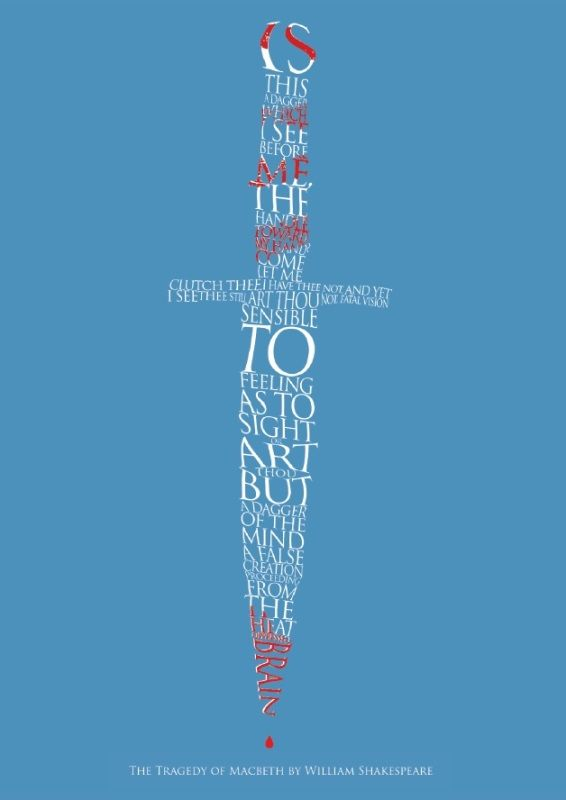 Macbeth Dagger Print | Prints | RSC Shop. Shakespeare quote as a dagger.