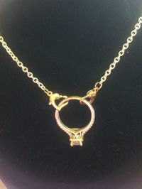 Gold Ring Holder Necklace - Jewelry Ideas