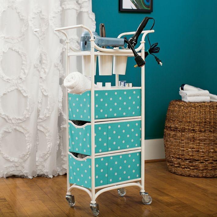 Bathroom Storage Cart  bathroom  Pinterest