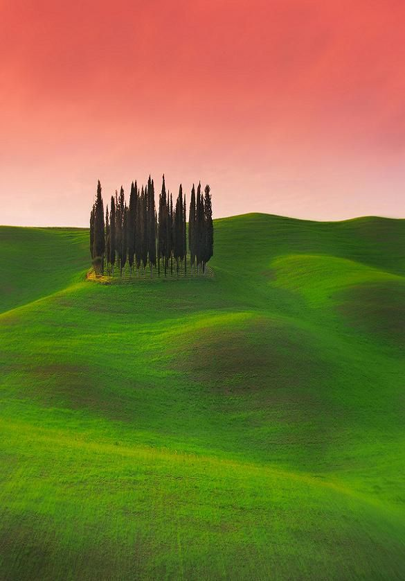 Chromatic and imaginary visions of Tuscany  Toscana Italy by Edmond Senatore