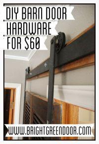 DIY Affordable Barn Door Hardware