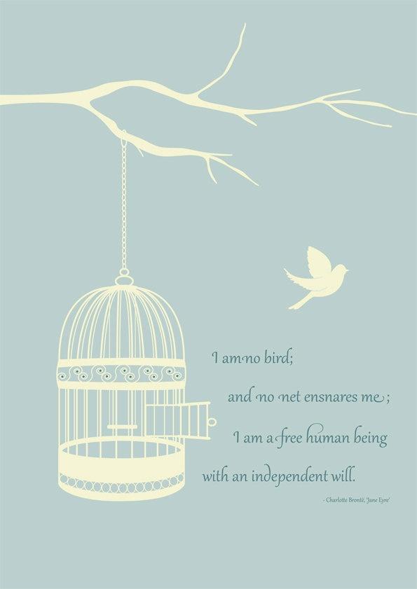 Jane Eyre bird quote pinterest book