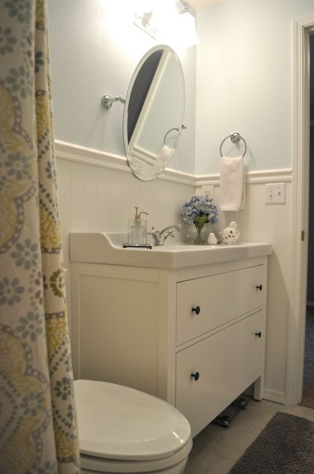 Ikeas Hemnes vanity done well  bao  Pinterest