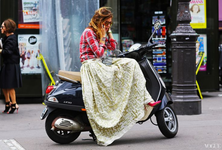 Street Style: Fall 2013 Couture - this is the only way I will wear plaid