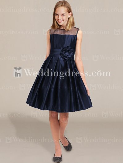 Junior Bridesmaid Dresses Navy Blue