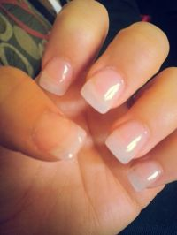 Simple clear acrylic nails | Nail art | Pinterest