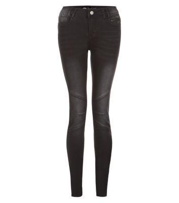 Black Biker Skinny Jeans