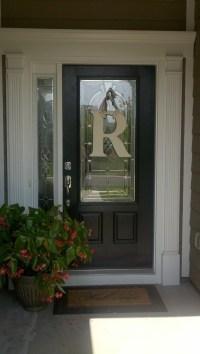 Front door monogram   This Old House!   Pinterest