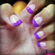 purple and gold nails nail art